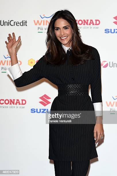 Rocio Munoz Morales attends Sanremo 2015 Day 3 Photocall during the 65th Festival della Canzone Italiana 2015 at Teatro Ariston on February 12 2015...