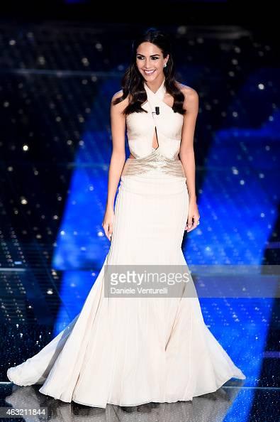 Rocio Munoz Morales attends second night 65th Festival di Sanremo 2015 at Teatro Ariston on February 11 2015 in Sanremo Italy