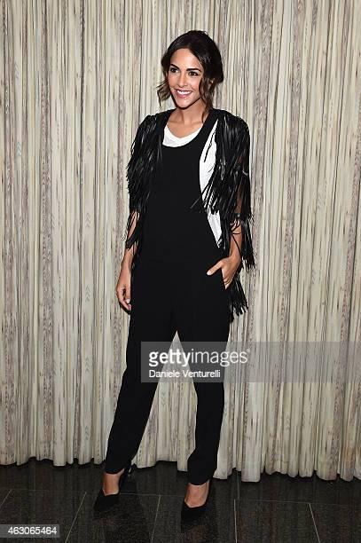 Rocio Munoz Morales attends the 65th Festival della canzone Italiana 2015 press conference at Teatro Ariston on February 9 2015 in Sanremo Italy