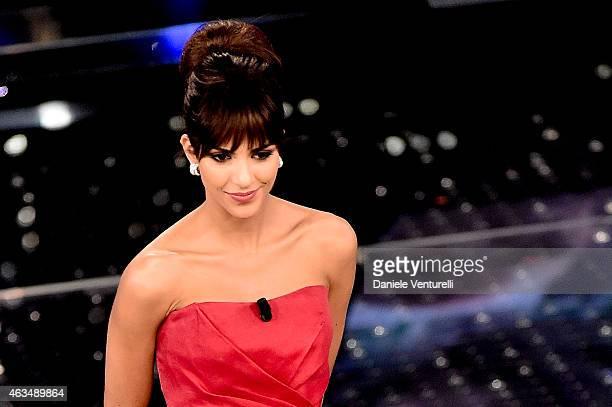 Rocio Munoz Morales attends the closing night of 65th Festival di Sanremo 2015 at Teatro Ariston on February 14 2015 in Sanremo Italy