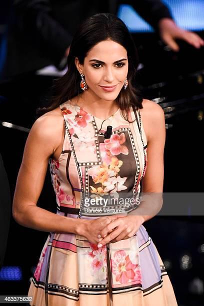 Rocio Munoz Morales attends the Fourth night of 65th Festival di Sanremo 2015 at Teatro Ariston on on February 13 2015 in Sanremo Italy