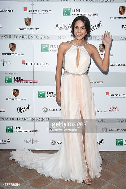 Rocio Munoz Morales attends the Nastri D'Argento Awards 2015 Cocktail on June 27 2015 in Taormina Italy