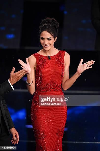 Rocio Munoz Morales attends the thirth night of 65th Festival di Sanremo 2015 at Teatro Ariston on February 12 2015 in Sanremo Italy