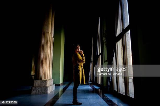 Rocio Munoz poses for a portrait session at Circulo de Bellas Artes on February 8 2017 in Madrid Spain
