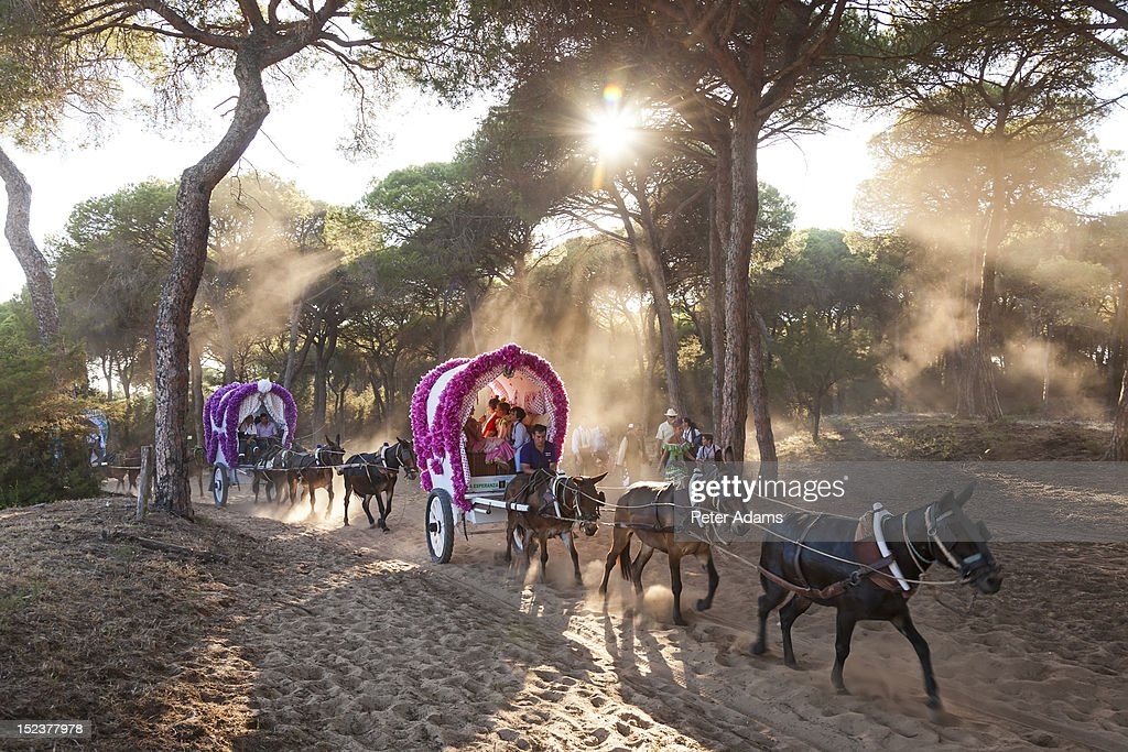 Rocio Pilgrimage near El Rocio, Andalucia, Spain : Stock Photo