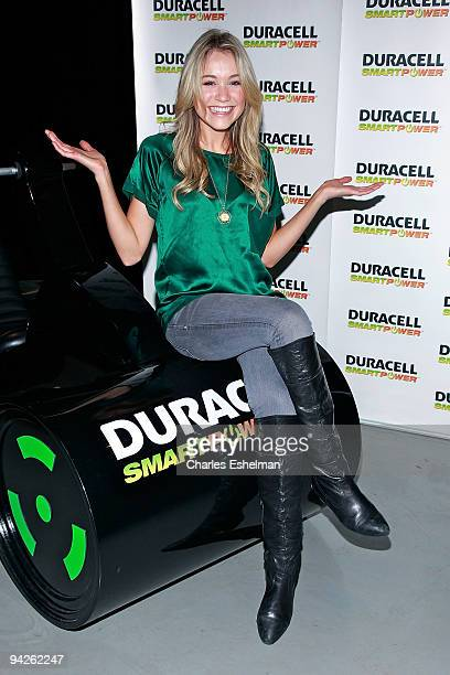 '30 Rock' actress Katrina Bowden visits the Duracell Smart Power Lab in Times Square on December 10 2009 in New York City