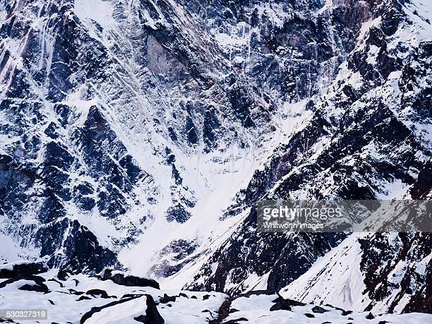 Rock and ice on Cholatse north face, Nepal