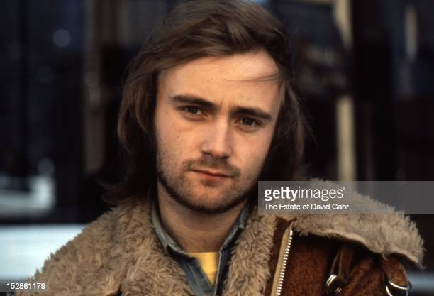 Rock and pop singer songwriter and musician Phil Collins poses for a portrait on November 20 1973 in New York City New York