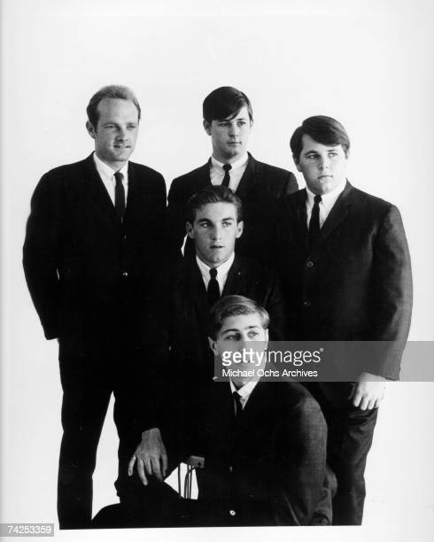 Rock and roll band 'The Beach Boys' pose for a portrait in 1963 Clockwise from left Mike Love Brian Wilson Carl Wilson David Marks Dennis Wilson
