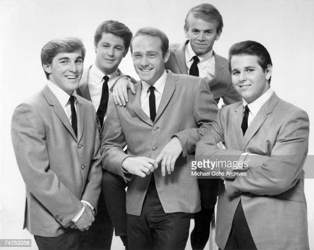 Rock and roll band 'The Beach Boys' pose for a portrait in 1964 Dennis Wilson Brian Wilson Mike Love Al Jardine Carl Wilson