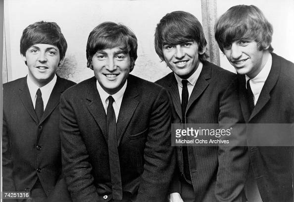 Rock and roll band 'The Beatles' pose for a portrait in circa 1962 Paul McCartney John Lennon George Harrison Ringo Starr