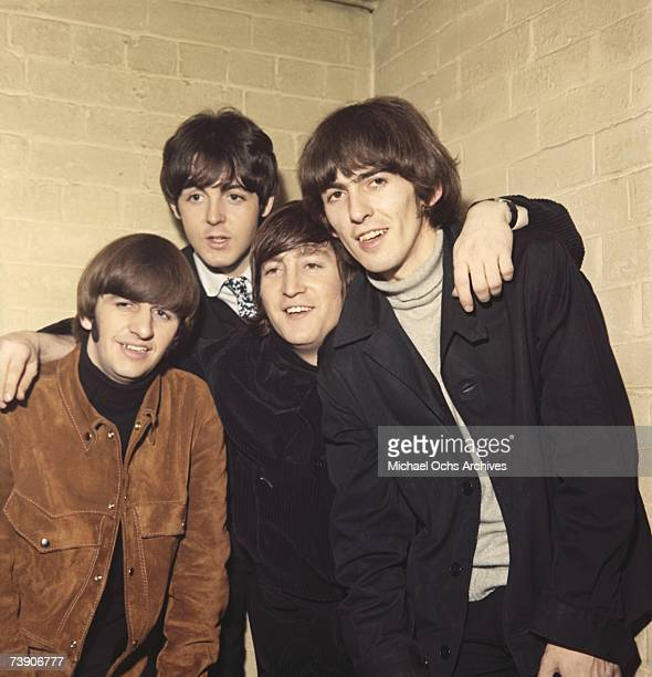 Rock and roll band 'The Beatles' pose for a portrait in circa 1965 Ringo Starr Paul McCartney John Lennon George Harrison