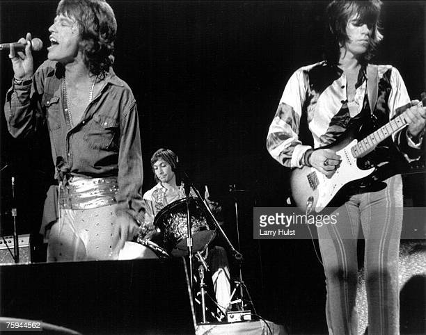 Rock and roll band 'The Rolling Stones' perform onstage at Winterland on June 6 1975 in San Francisco California