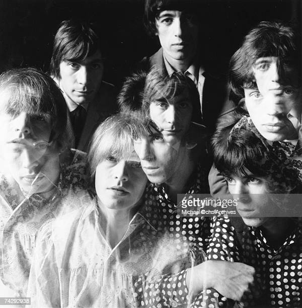 Rock and roll band 'The Rolling Stones' poses for a multiple exposure portrait in circa 1966