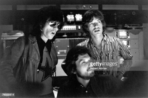 Rock and roll band 'The Rolling Stones' recording the album 'Let it Bleed' at Sunset Sound Studios in October 1969 in Los Angeles California