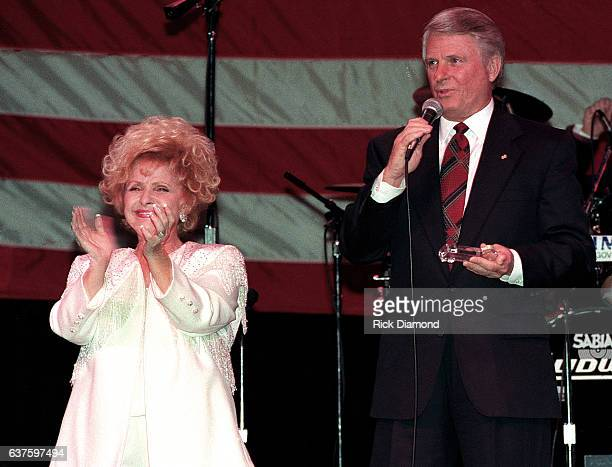 Rock and Roll Country Music and Rockabilly Hall of Fame member Singer/Songwriter Brenda Lee and Georgia Governor Zell Miller attend fundraiser hosted...