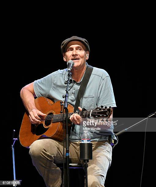 Rock and Roll Hall of Fame membebr James Taylor performs onstage during All For The Hall Los Angeles A benefit concert presented by The Country Music...
