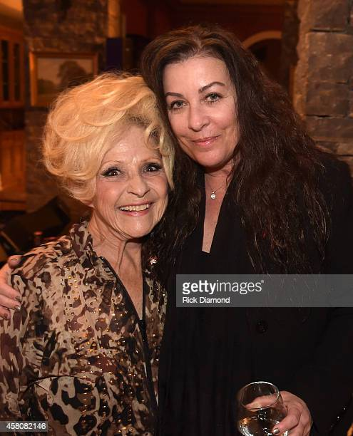 Rock and Roll Hall of Fame member Brenda Lee and Patti Everly attend A Tribute to Phil Everly to benifit COPD at the home of Sylvia Roberts on...