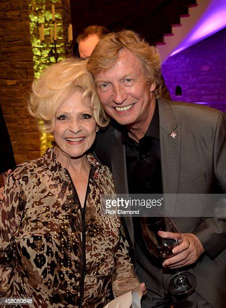 Rock and Roll Hall of Fame member Brenda Lee and Producer/Directoe Nigel Lythgoe attend A Tribute to Phil Everly to benifit COPD at the home of...