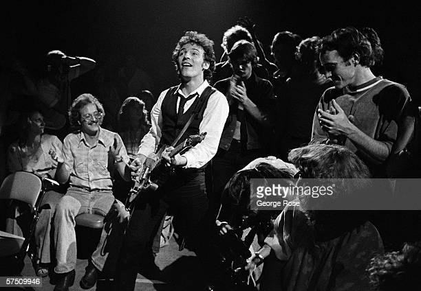 Rock and roll icon Bruce Springsteen jumps into the audience during a 1978 Bloomington Minnesota concert Springsteen spent much of 1978 playing small...