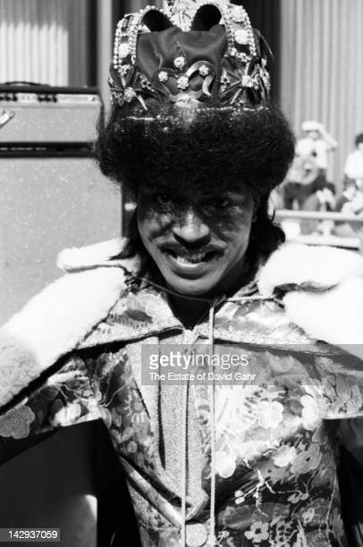 Rock and roll legend Little Richard backstage before a performance in October 1975 at Rockefeller Center in New York City New York