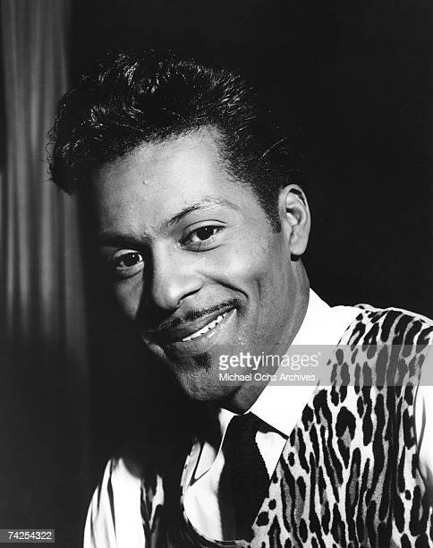 Rock and roll musician Chuck Berry poses for a portrait in circa 1965