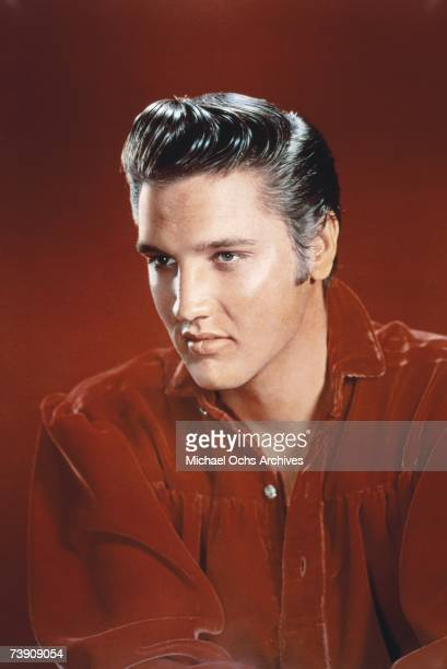 Rock and roll musician Elvis Presley poses for a portrait in Memphis Tennessee in 1956 Photo by Michael Ochs Archives/Getty Images