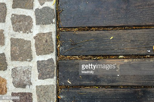 Rock and wood texture : Stock-Foto
