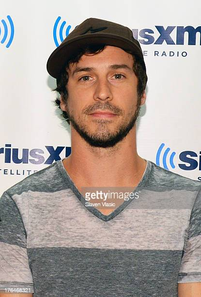 Rock band '10 Years' singer Jesse Hasek visits SiriusXM Studios on August 13 2013 in New York City