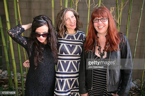 Rock band Babes in Toyland Kat Bjelland Maureen Herman and Lori Barbero pose for a portrait outside Amp Rehearsal in N Hollywood California on...