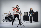 Rock band Biffy Clyro pose for a portrait shoot in London on November 23 2009