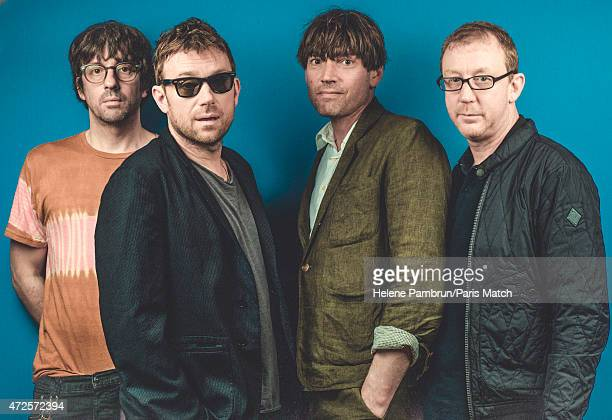 Rock band Blur is photographed for Paris Match on April 16 2015 in Paris France