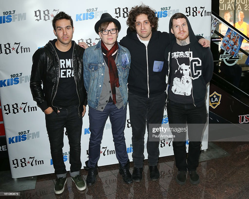 Rock Band Fall Out Boy attends the 102.7 KIIS FM and 98.7 5th annual celebrity artist lounge celebrating the 55th Annual GRAMMYS at ESPN Zone At L.A. Live on February 8, 2013 in Los Angeles, California.