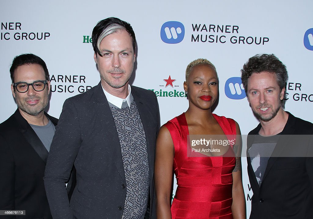 Rock Band Fitz And The Tantrums attend the Warner Music Group annual Grammy celebration at the Sunset Tower on January 26, 2014 in West Hollywood, California.