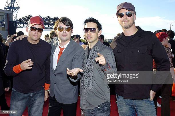 Rock band Grinspoon arrives at the 19th Annual ARIA Awards at the Sydney SuperDome on October 23 2005 in Sydney Australia The ARIA Awards recognise...