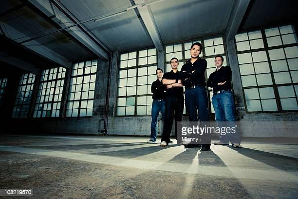 Rock Band Group Shot