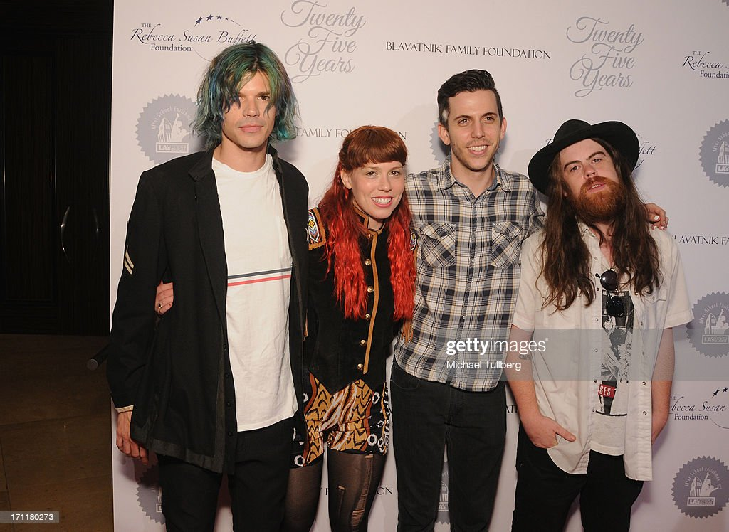 Rock band Grouplove attends the LA's Best 25th Anniversary Gala at The Beverly Hilton Hotel on June 22, 2013 in Beverly Hills, California.