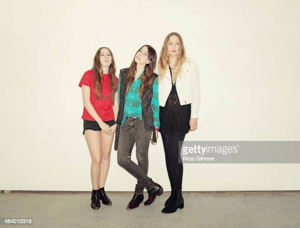 Rock band Haim are photographed on May 27 2013 in Glasgow Scotland