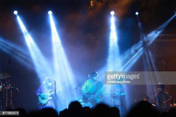 Rock Band 'Indian Ocean' performing during the Hindustan Times Palate Fest 2017 at Nehru Park on November 17 2017 in New Delhi India The popular...