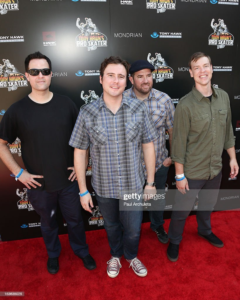 Rock Band Jimmy Eat World attends the 9th annual Stand Up For Skateparks benefit at Ron Burkle's Green Acres Estate on October 7, 2012 in Beverly Hills, California.