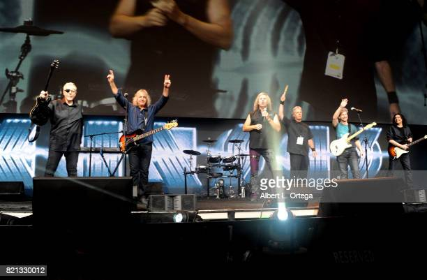 Rock band Kansas performs onstage at the 'Supernatural' panel during ComicCon International 2017 at San Diego Convention Center on July 23 2017 in...