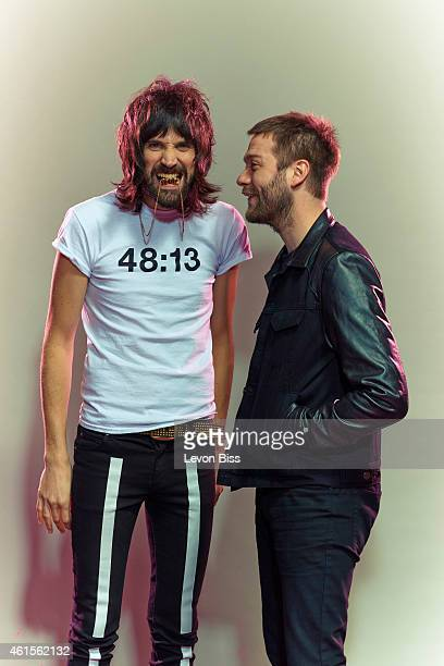 Rock band Kasabian are photographed for Shortlist on April 24 2014 in London England