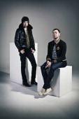 Rock band Kasabian pose for a portrait shoot in London on January 10 2010