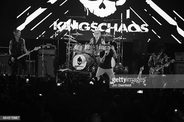 Rock band Kings of Chaos Duff McKagan Matt Sorum Corey Taylor and Steve Stevens perform a benefit concert for Ric O'Barry's Dolphin Project at the...