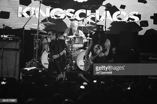 Rock band Kings of Chaos Glenn Hughes Matt Sorum and Slash perform a benefit concert for Ric O'Barry's Dolphin Project at the Avalon in Hollywood...