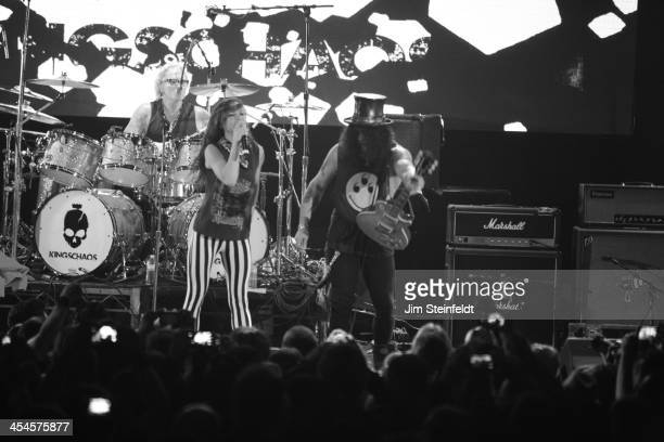 Rock band Kings of Chaos Matt Sorum Juliette Lewis and Slash perform a benefit concert for Ric O'Barry's Dolphin Project at the Avalon in Hollywood...