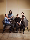 Rock band Kings Of Leon are photographed for the Telegraph on August 15 2013 in London England