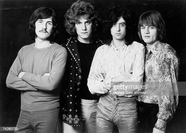 Rock band 'Led Zeppelin' poses for a portrait in 1968 John Bonham Robert Plant Jimmy Page John Paul Jones