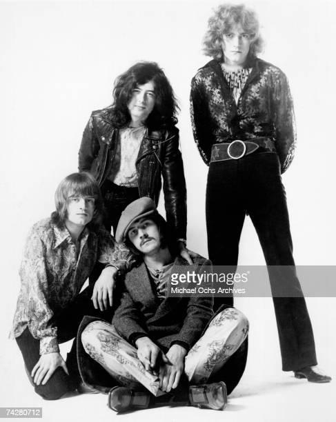 Rock band 'Led Zeppelin' poses for a portrait in 1969 John Paul Jones Jimmy Page John Bonham Robert Plant
