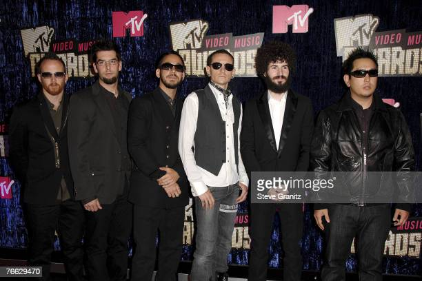 Rock band Linkin Park arrives at the 2007 Video Music Awards at the Palms Casino Resort on August 9 2007 in Las Vegas Nevada